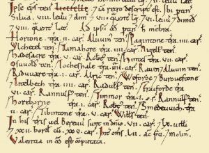 Yoxall in Domesday Book alt1